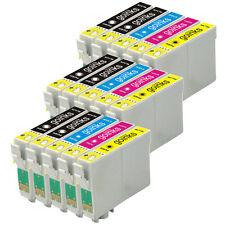 15 Cartucce d'Inchiostro per Epson Stylus D120 DX7400 SX115 SX610FW