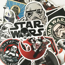 Brand New HUGE Lot of over 100 Random MYSTERY Star Wars STICKERS Color Blck/Wht
