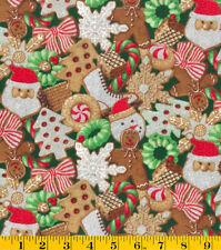 GLITTERED CHRISTMAS COOKIES CHRISTMAS VALANCE