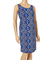 Maternity Shift Dress Size 12 Ladies Womens Sleeveless Blue Runched New #1267