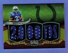 RARE DONALD BROWN INDIANAPOLIS COLTS TRIPLE THREADS JERSEY CARD 3/5 2009 TOPPS