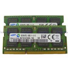 Samsung 16GB 2X8GB PC3L-12800 DDR3-1600MHz SODIMM Memoria RAM para computadora portátil 204pin 1.35V