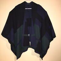 LAUREN RALPH LAUREN NEW Women's Plaid Poncho S/M Sweater Top TEDO $185