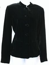 Ann Taylor Womens Beautiful Black Velour Button Down Blazer SZ 4 Professional
