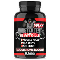 MONSTER TEST MAXX Testosterone Booster Maximum Strength: 90ct Angry Supplements