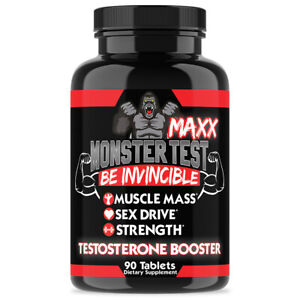 MONSTER TEST MAXX Testosterone Booster Maximum Strength: 90 Count Pills