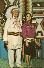 CP USA INDIEN CHIEF WALKING BEAR AND DAUGHTER WINNEBAGO