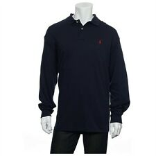 Polo Ralph Lauren Navy Blue Medium L/S 100% cotton interlock Shirt, NWT $79.50