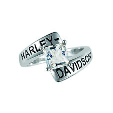Harley-Davidson® April Birthstone Ring - White Topaz - size 10 D4J8808