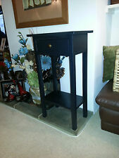 H80 W60 D20cm BESPOKE  BLACK HALL TELEPHONE CONSOLE TABLE STAND DRAWER