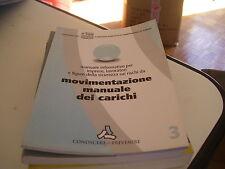LIBRO MOVIMENTAZIONE MANUALE DEI CARICHI CONOSCERE PER PREVENIRE 3 EDILSCUOLA 08