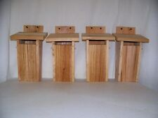 BLUEBIRD HOUSE ( 4 houses)  slot entrance peterson style  handmade by CEDARNEST