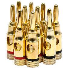 Monoprice High-Quality Brass Speaker Banana Plugs, 5-Pair, Open Screw Type - 943