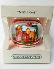 Vintage 1982 HALLMARK Christmas SATIN Ornament NEW HOME in box mib
