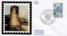 FDC PREMIER JOUR ANDORRE 1977 TIMBRE N° 262 CHATEAU DE SAINT VICENS