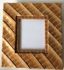 """Leather photo Picture Crafts Frame Holds 2.5x3"""""""