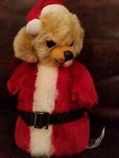 """Merrythought Bear Cheeky Little Santa w Bells  LMT #58 of 500 6.5"""" made England"""