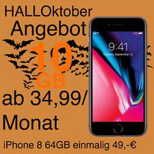 Apple iPhone 8 64GB mit Vertrag Handyvertrag ab 34,99 mtl. 10GB Internet Flat