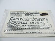 N Scale Great Northern Black Decals - Walthers #XD650Y