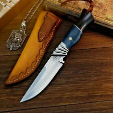 Straightback Knife Hunting Wild Tactical Combat VG10 Damascus Steel Collectible