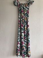 MULTICOLOURED FLORAL MAXI DRESS BARDOT UK 6 PARTY TOWIE CELEB KYLIE PRETTY KIM