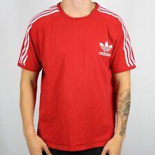 De Colección Adidas Originals Rojo Europa Camiseta Camiseta | Retro Trébol | 2XL