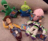 Lot of 5 Disney Toy Story Mini Buddies ~ Buzz Hamm Woody & Alien Thinkaway Toys