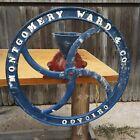 Antique MONTGOMERY WARD & CO. Hand Crank Grinder Mill