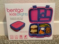 Bentgo Kids Brights – Leak-Proof, 5-Compartment Bento-Style Kids Lunch Box Pink