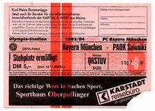 Ticket EC Bayern München - PAOK Saloniki 1983/84