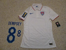 RARE NWT Nike USA 2015 CONCACAF Gold Cup Authentic White Jersey #8 Dempsey Print