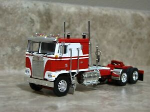 DCP 1/64 Red White Kenworth K-100 Cabover Semi Truck Farm Toy