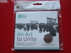 2018 BUNC 50p An Act to Unite- Representation of the People Act NEW FREE POSTAGE
