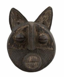 Masquette Chat votive Masque diminutif terre cuite fétiche Art africain 6349