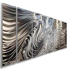 Modern Abstract Silver Metal Wall Art Sculpture Original Home Decor Jon Allen