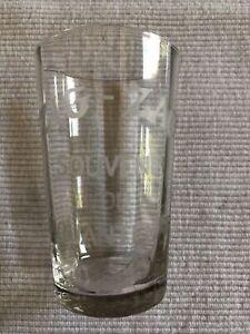 verre ancien gravé ZIG ZAG Souvenir Du Cinquantenaire