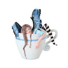 I Need Coffee Fairy Figurine Faery Figure Amy Brown teacup faerie cup mug statue