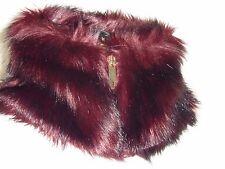 BNWT TED BAKER Da Donna arba zip collo alto collo in pelliccia sintetica MID ROSSO, IDEA REGALO!