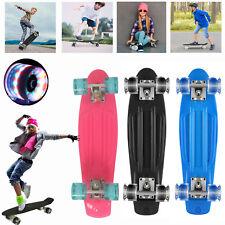 Funboard 22'' Skateboard Komplett LED Street Board Mini Cruiser Pennyboard ABEC7