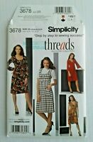 Simplicity 3678 Misses Knit Dress Sewing Pattern Size 16 - 24 OOP UNCUT 4 Styles