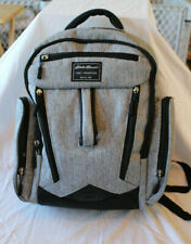 Eddie Bauer Back Pack Rainier Diaper Bag Backpack Gray and Black Insulated