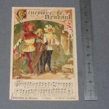 CHROMO 1890-1910 CHOCOLAT DE GUYENNE CHANSON GENEVIEVE DE BRABANT