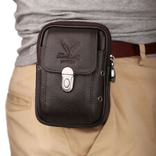 Men Leather Hip Belt Bum Pouch Purse Fanny Pack Cell Phone Case Cover  Waist Bag