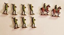 40mm semi-round metal WWI Soldiers handpainted lot of 9, 2 mounted Joesoldiers