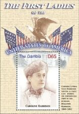GAMBIA FIRST LADIES OF THE UNITED STATES - CAROLINE HARRISON S/S MNH