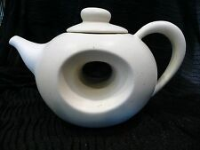 White Teapot With Hole In Center For Even Heating
