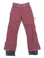 Burton Biolight Women's Nylon Ski Snowboard Pants Maroon/Burgundy Lined • SMALL