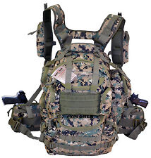Ultimate Deluxe Tactical Assault 3-Day 72 Hours Survival Pack Backpack WD COLOR