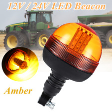40 LED Flashing Amber Beacon DIN Pole Mount Tractor Warning Strobe Light