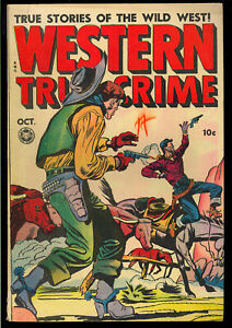 Western True Crime #16 (#2) Very Nice Pre-Code Golden Age Fox Comic 1948 FN